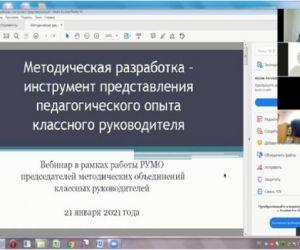 Районный вебинар для классных руководителей