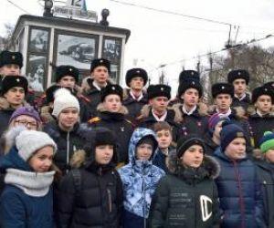 Митинг, посвящённый 74-ой годовщине освобождения Ленинграда от фашистской блокады.